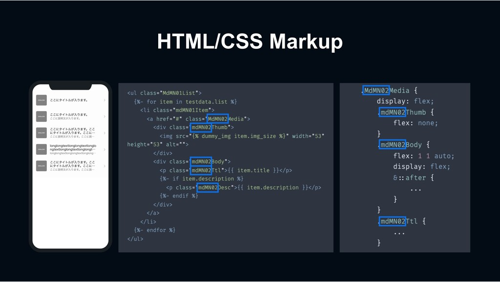 HTML/CSS Markup