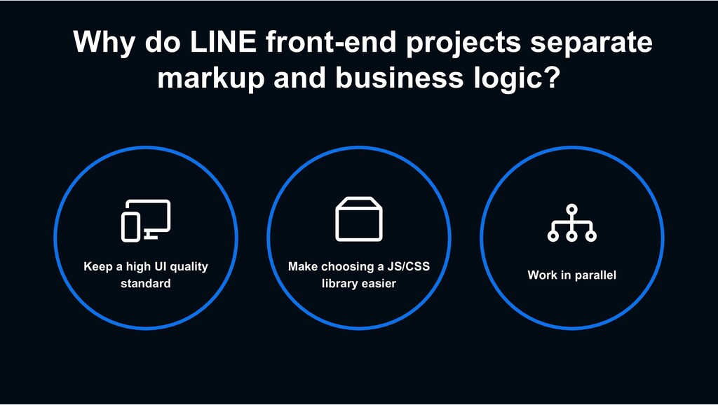Why do LINE front-end projects separate markup ...