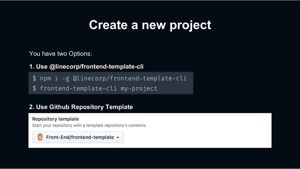 Create a new project You have two Options: 2. U...