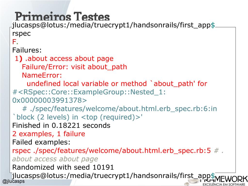 Primeiros Testes @jlucasps jlucasps@lotus:/medi...