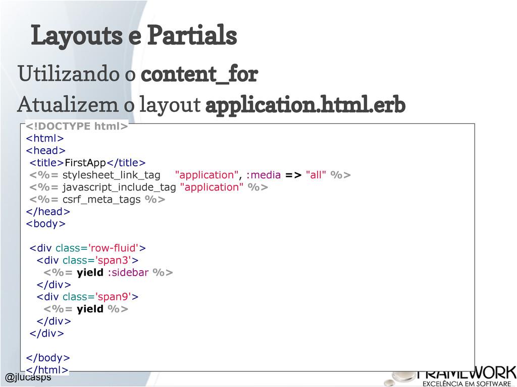 Layouts e Partials Utilizando o content_for Atu...