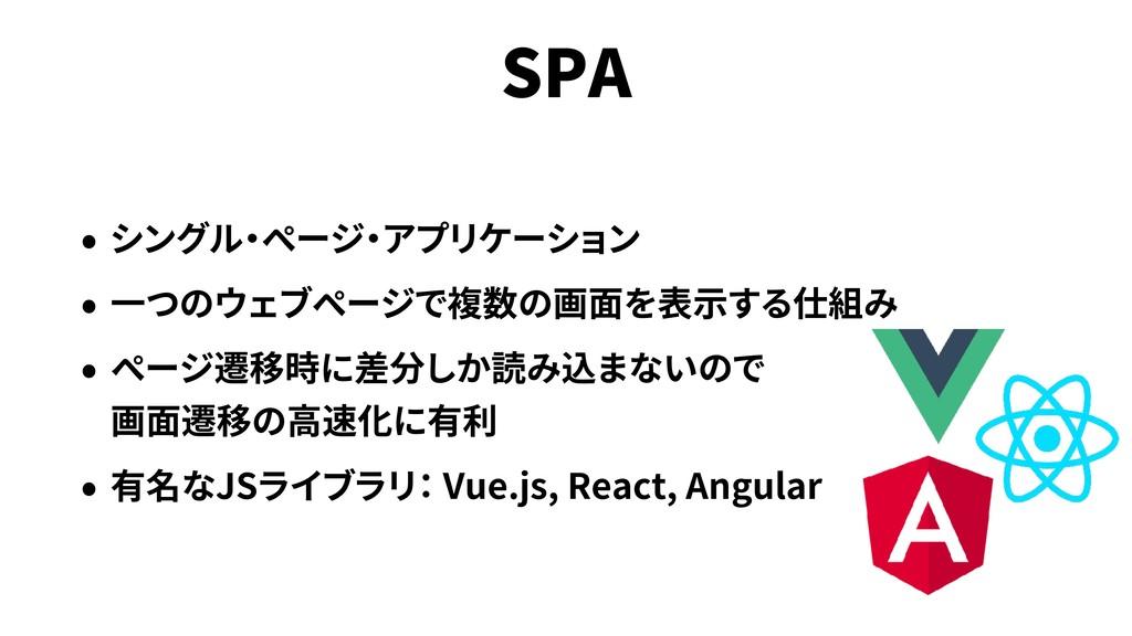SPA  JS Vue.js, React, Angular