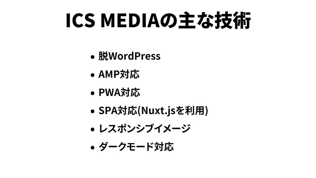ICS MEDIA WordPress AMP PWA SPA (Nuxt.js )