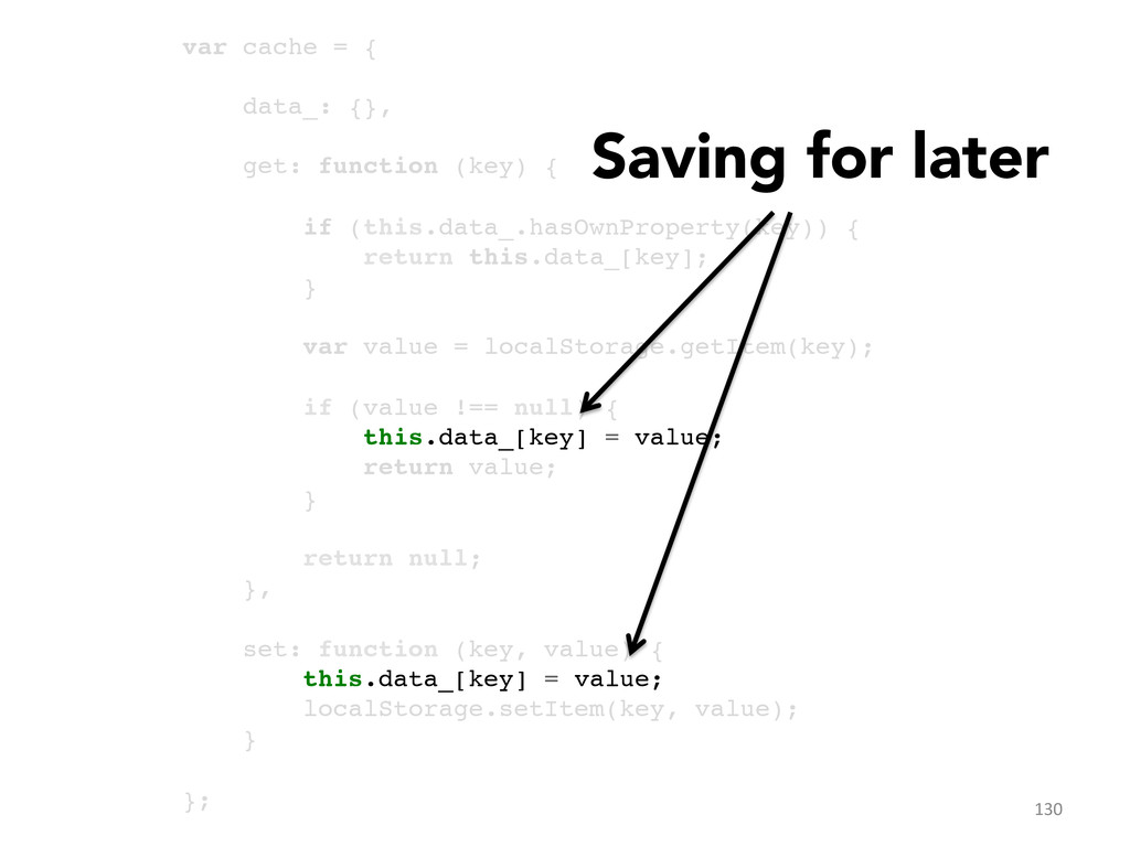 var cache = {! ! data_: {},! ! get: function (k...