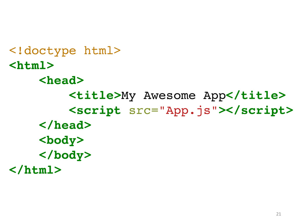<!doctype html>! <html>! <head>! <title>My Awes...