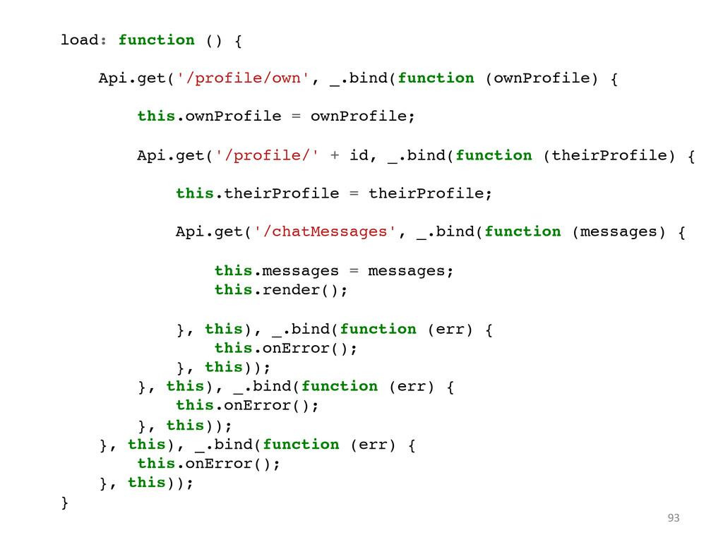 93  load: function () {! ! Api.get('/profile...