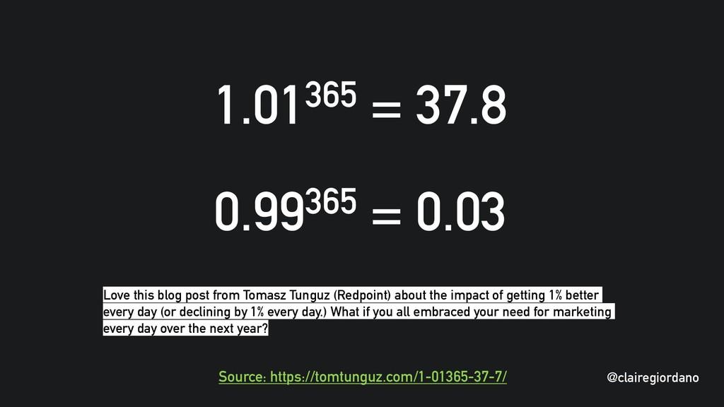 @clairegiordano 1.01365 = 37.8 0.99365 = 0.03 S...