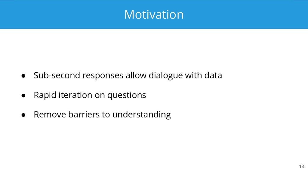 Motivation ● Sub-second responses allow dialogu...
