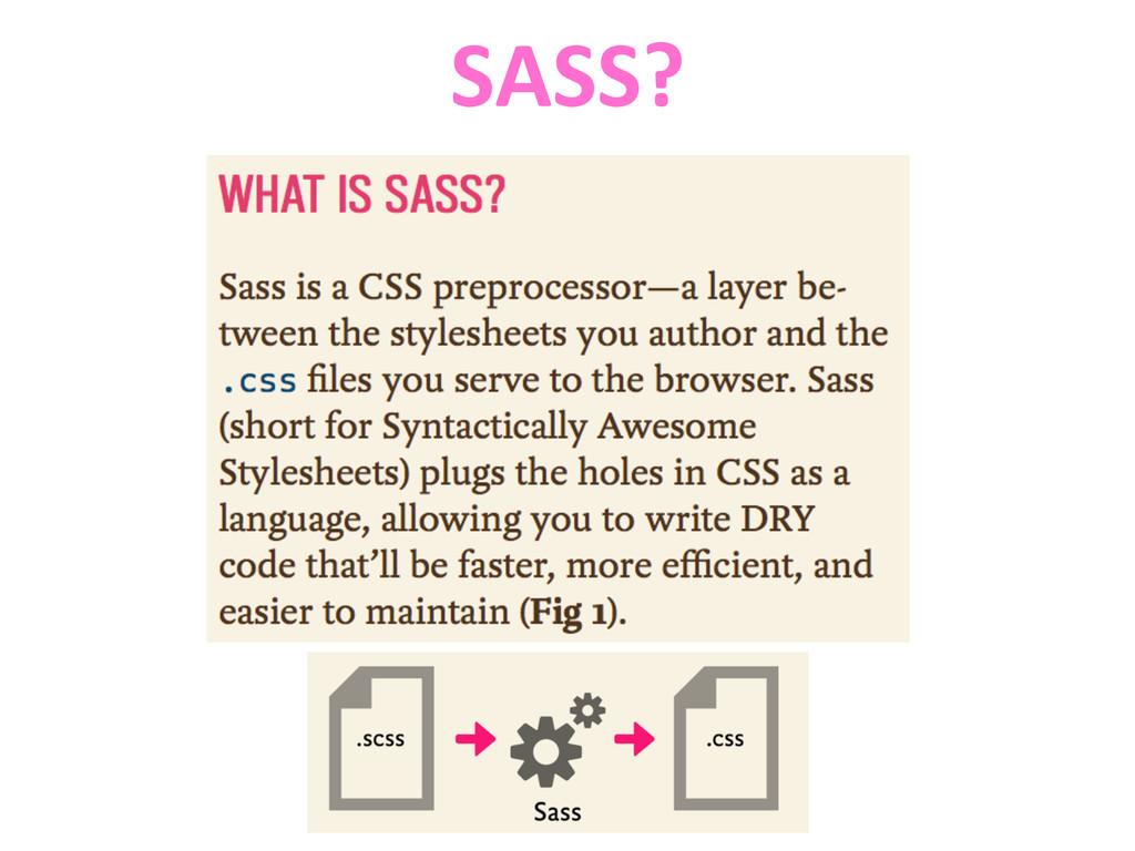 SASS?