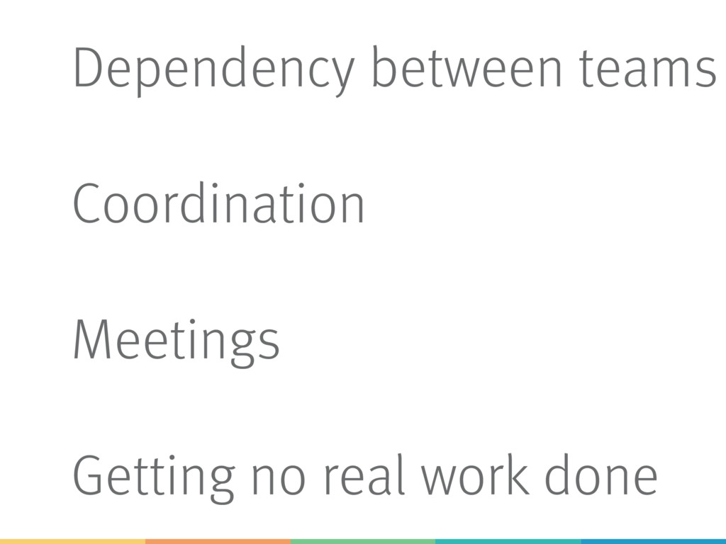 Dependency between teams Coordination Meetings ...