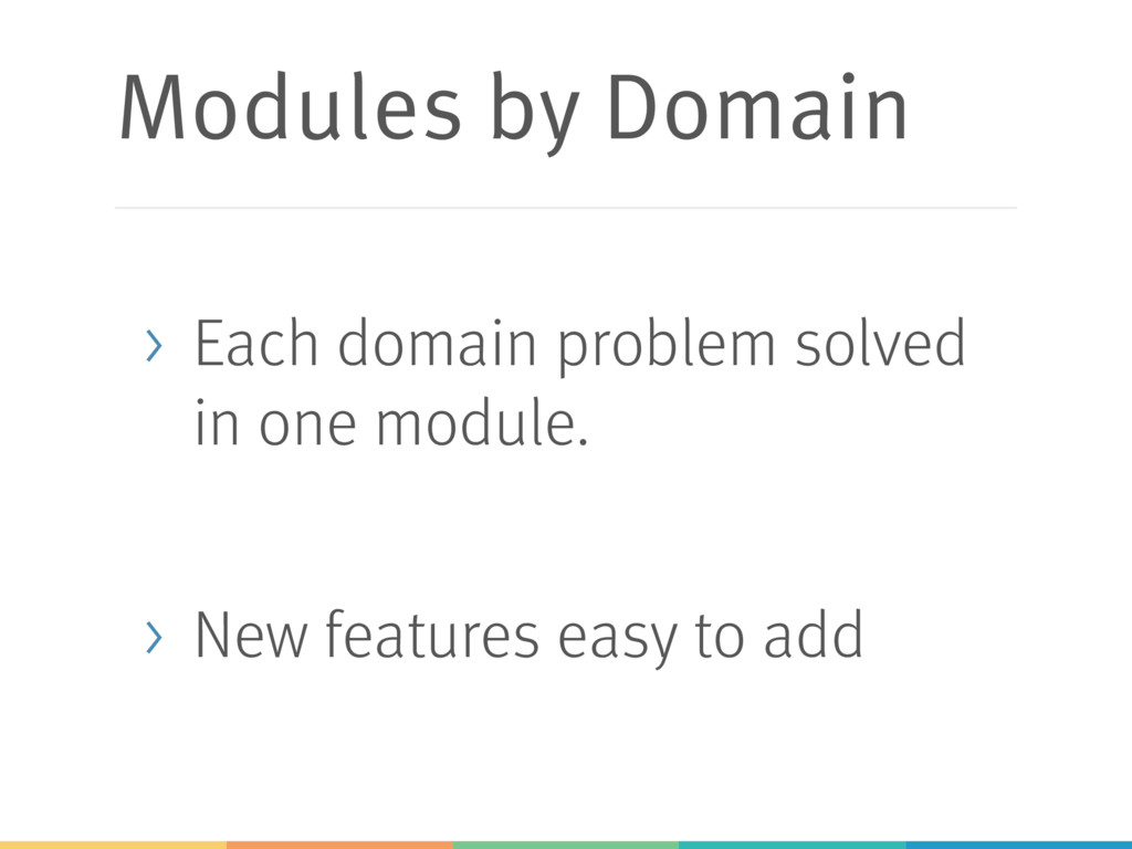 Modules by Domain > Each domain problem solved ...