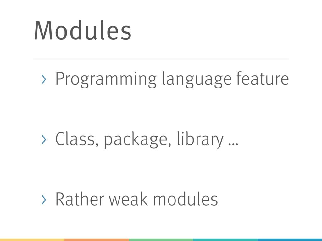 Modules > Programming language feature > Class,...