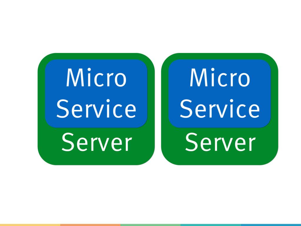 Server Server Micro Service Micro Service