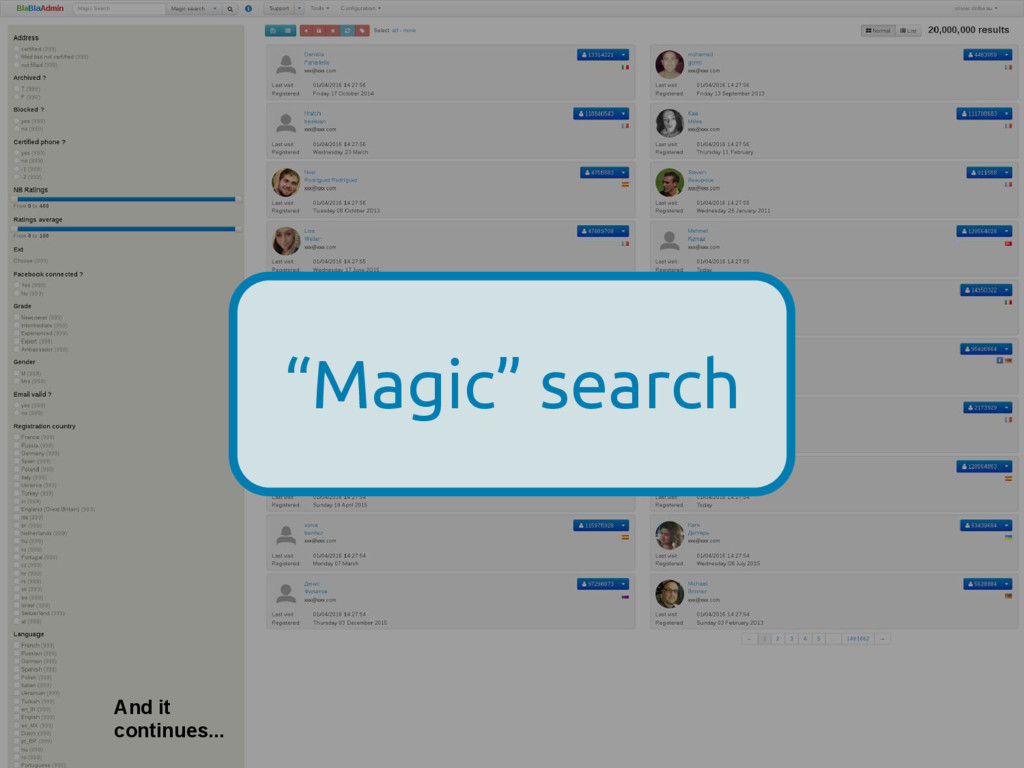 "And it continues... ""Magic"" search"