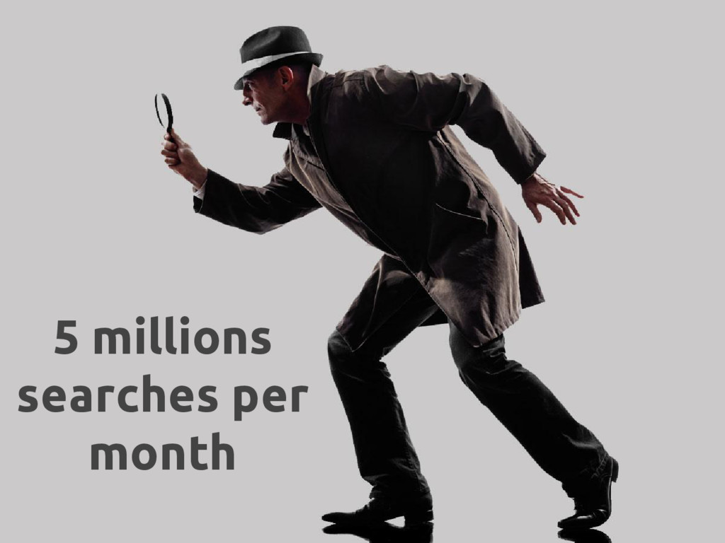 5 millions searches per month