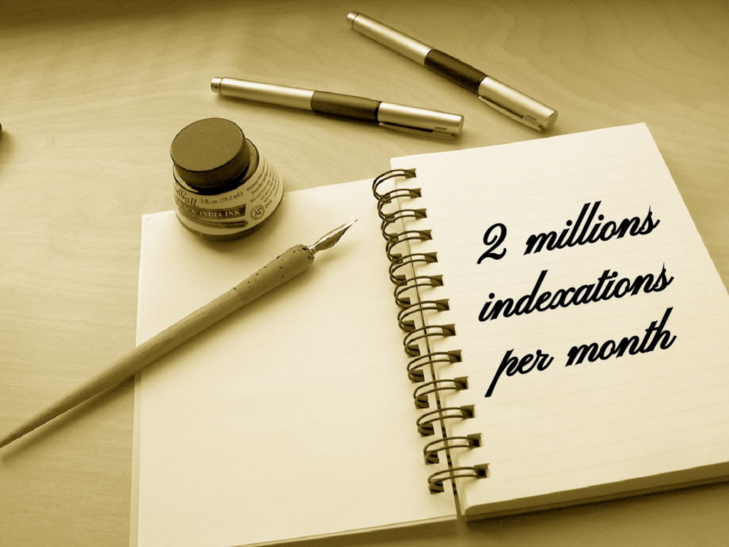 2 millions indexations per month