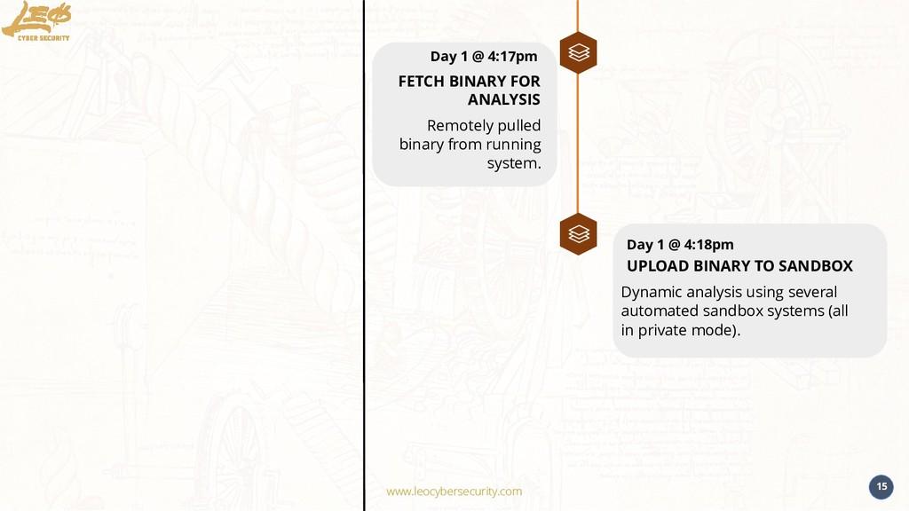 www.leocybersecurity.com 15 Remotely pulled bin...
