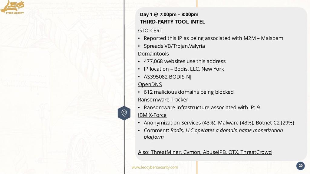 www.leocybersecurity.com 20 GTO-CERT • Reported...