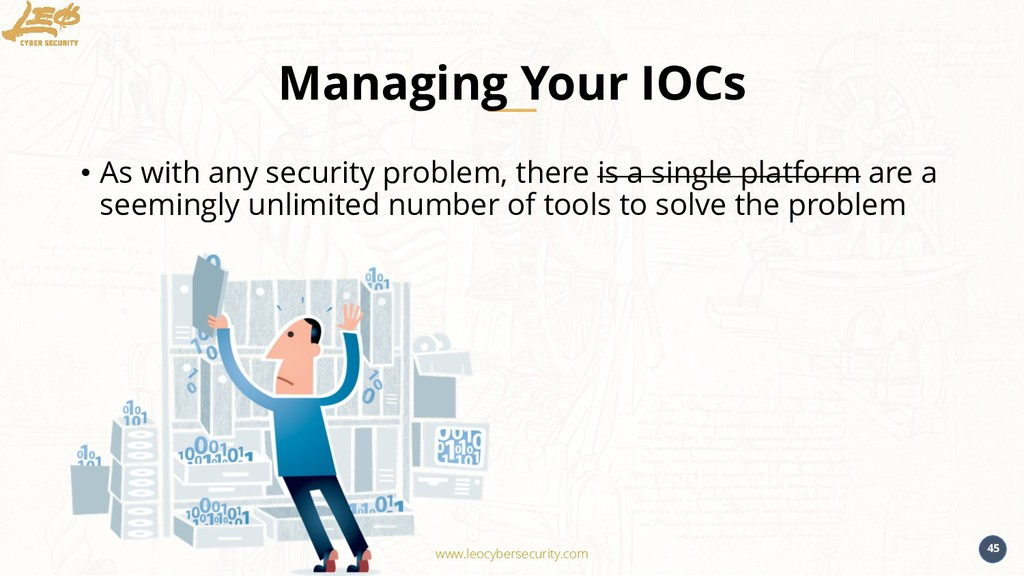 www.leocybersecurity.com 45 Managing Your IOCs ...