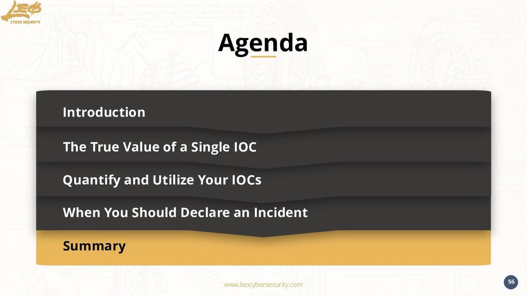 www.leocybersecurity.com 56 Summary Introductio...