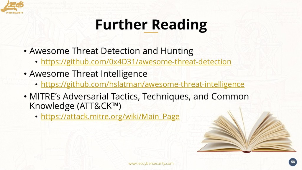 www.leocybersecurity.com 58 Further Reading • A...