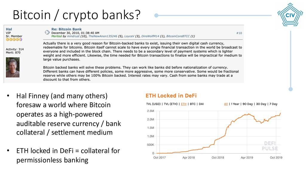 Bitcoin / crypto banks? • Hal Finney (and many ...