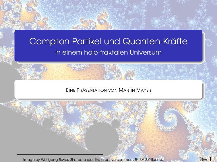Compton Partikel und Quanten-Kr ¨ afte in einem...
