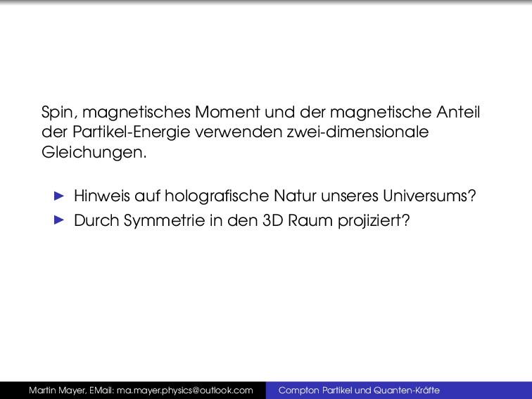 Spin, magnetisches Moment und der magnetische A...