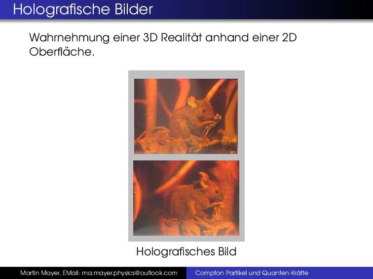 Holografische Bilder Wahrnehmung einer 3D Realit...
