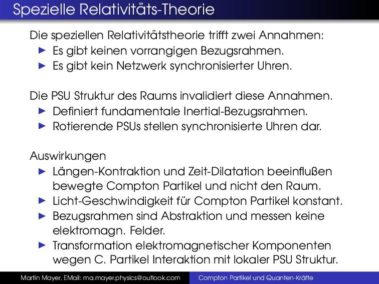 Spezielle Relativit ¨ ats-Theorie Die spezielle...
