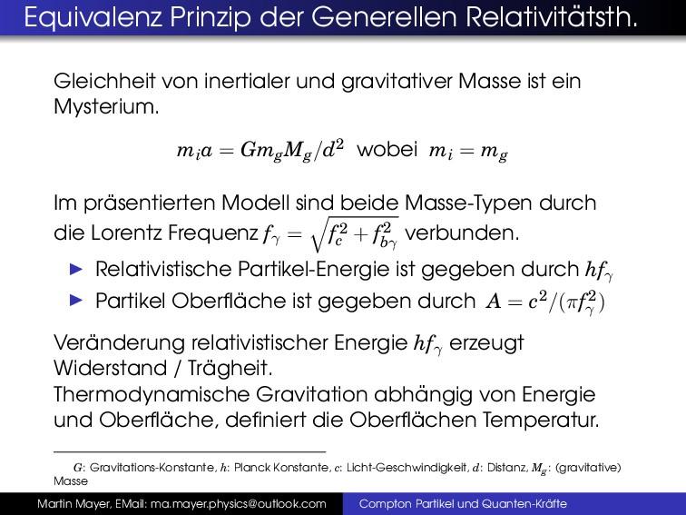 Equivalenz Prinzip der Generellen Relativit ¨ a...