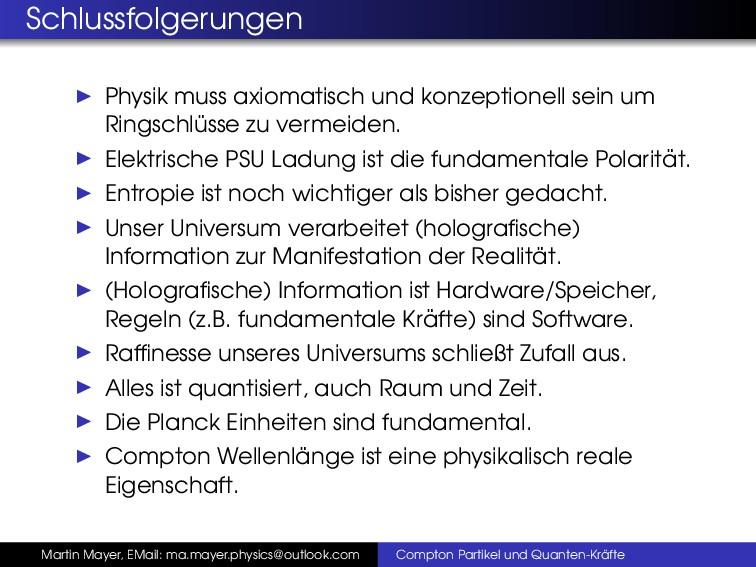Schlussfolgerungen Physik muss axiomatisch und ...