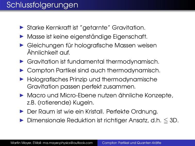 """Schlussfolgerungen Starke Kernkraft ist """"getarn..."""
