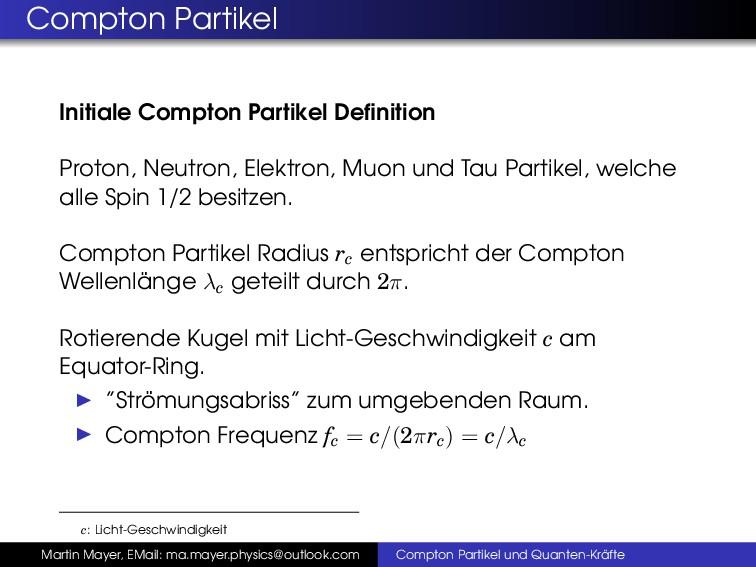 Compton Partikel Initiale Compton Partikel Defin...