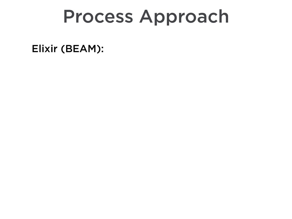 Process Approach Elixir (BEAM):