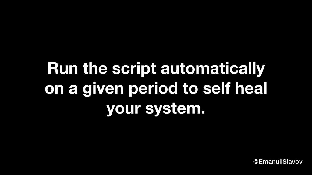 Run the script automatically on a given period ...
