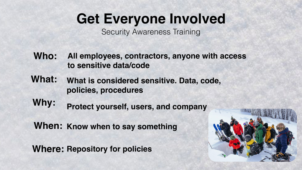 Security Awareness Training Who: What: Why: Whe...