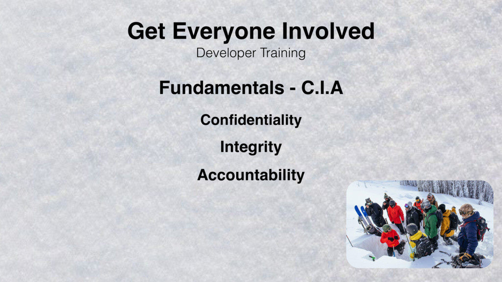 Developer Training Confidentiality Integrity Acc...