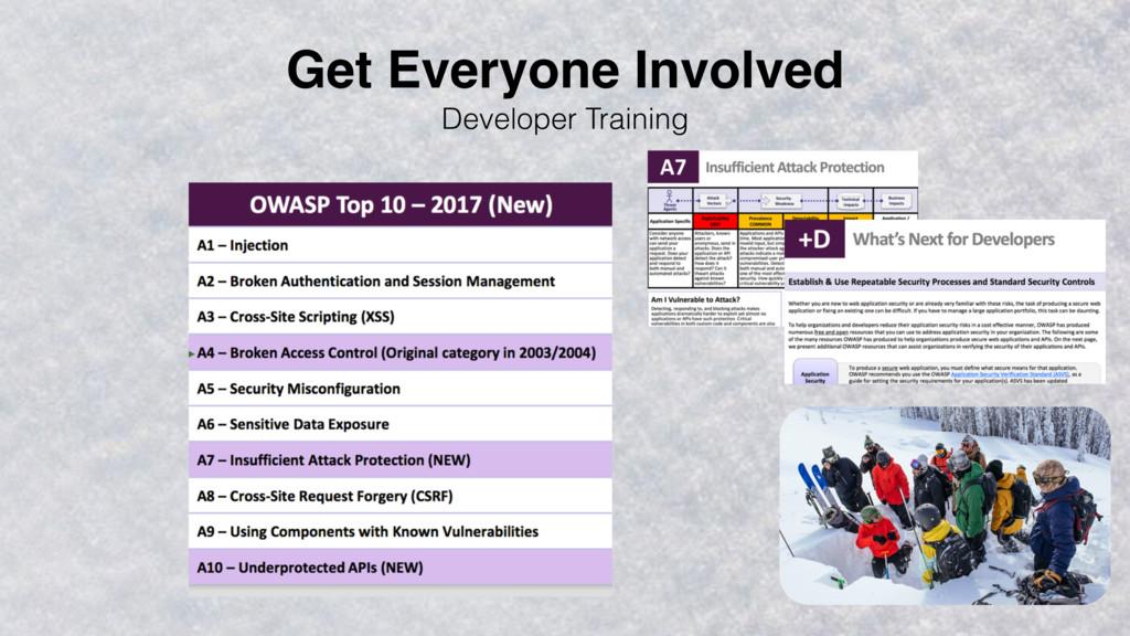Developer Training Get Everyone Involved