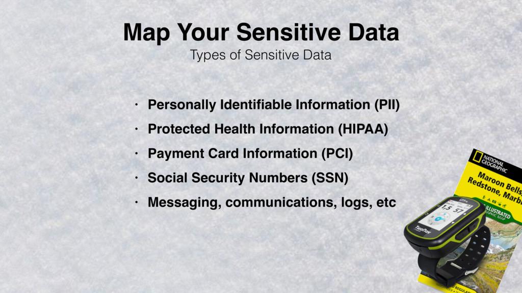 Map Your Sensitive Data Types of Sensitive Data...