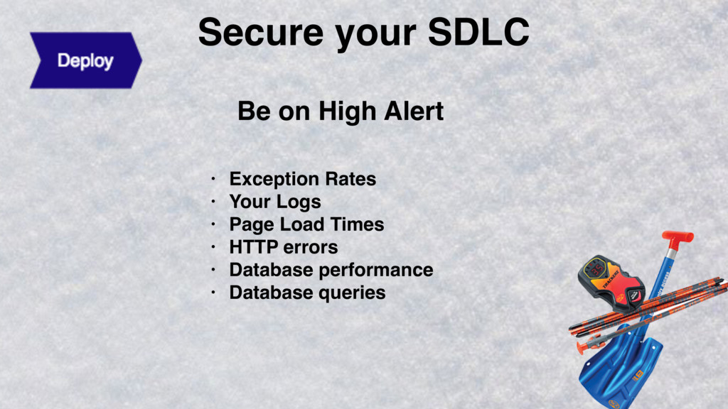 Secure your SDLC Be on High Alert • Exception R...
