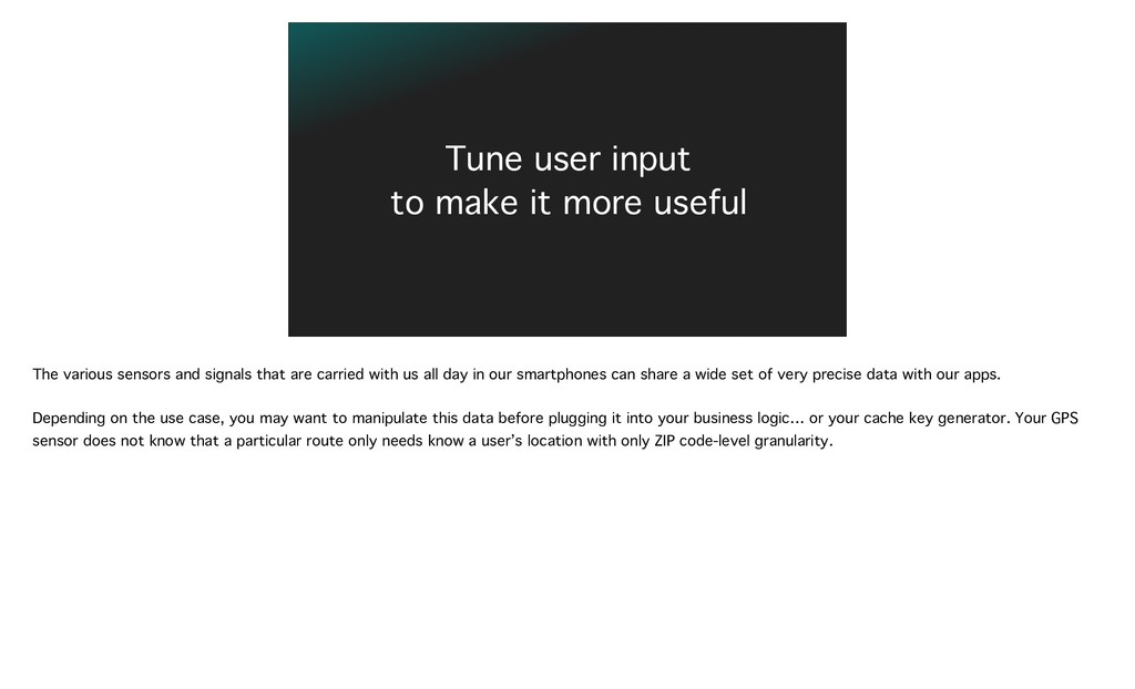 Tune user input 