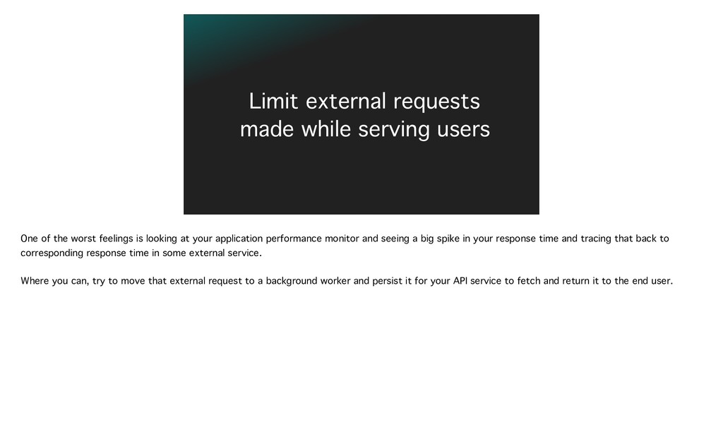 Limit external requests made while serving user...