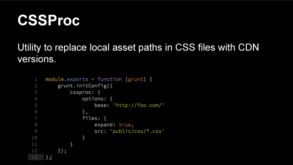 CSSProc Utility to replace local asset paths in...