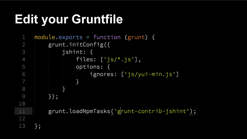 Edit your Gruntfile