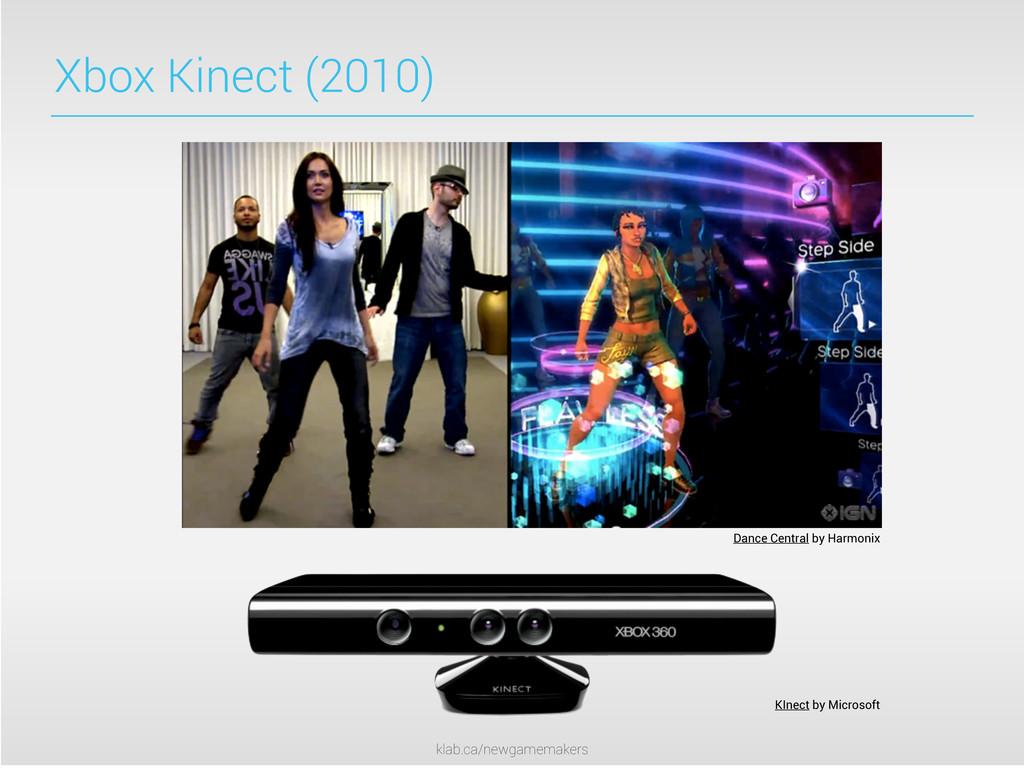 klab.ca/newgamemakers Xbox Kinect (2010) Dance ...
