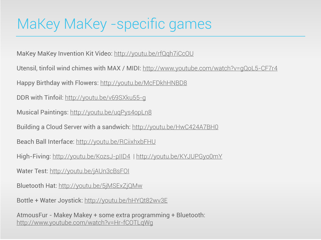 MaKey MaKey -specific games MaKey MaKey Inventio...
