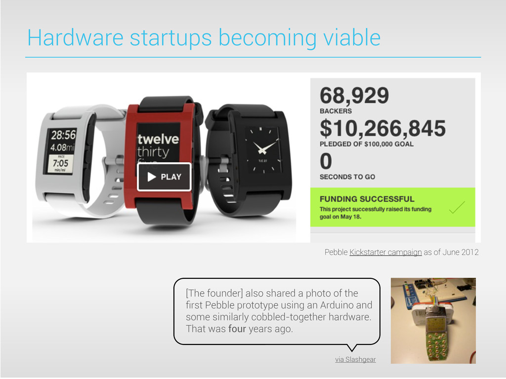 Hardware startups becoming viable [The founder]...