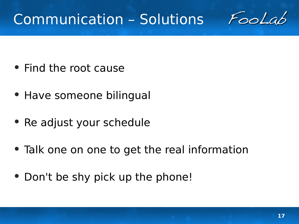 17 Communication – Solutions • Find the root ca...
