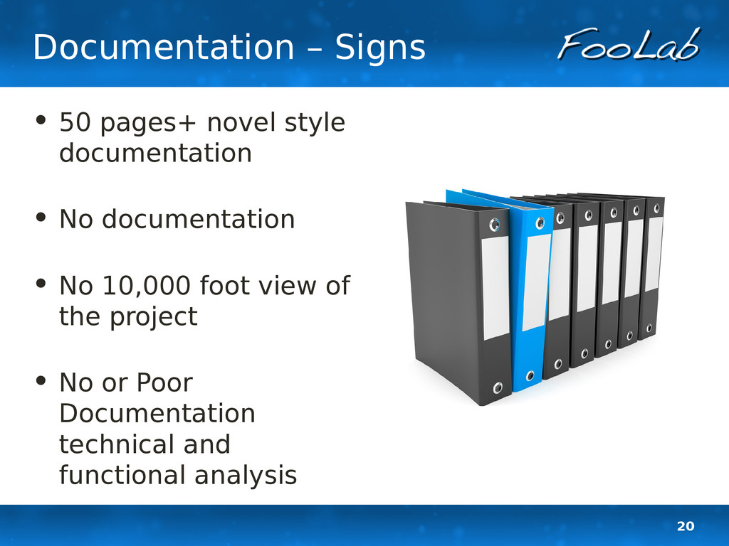 20 Documentation – Signs • 50 pages+ novel styl...